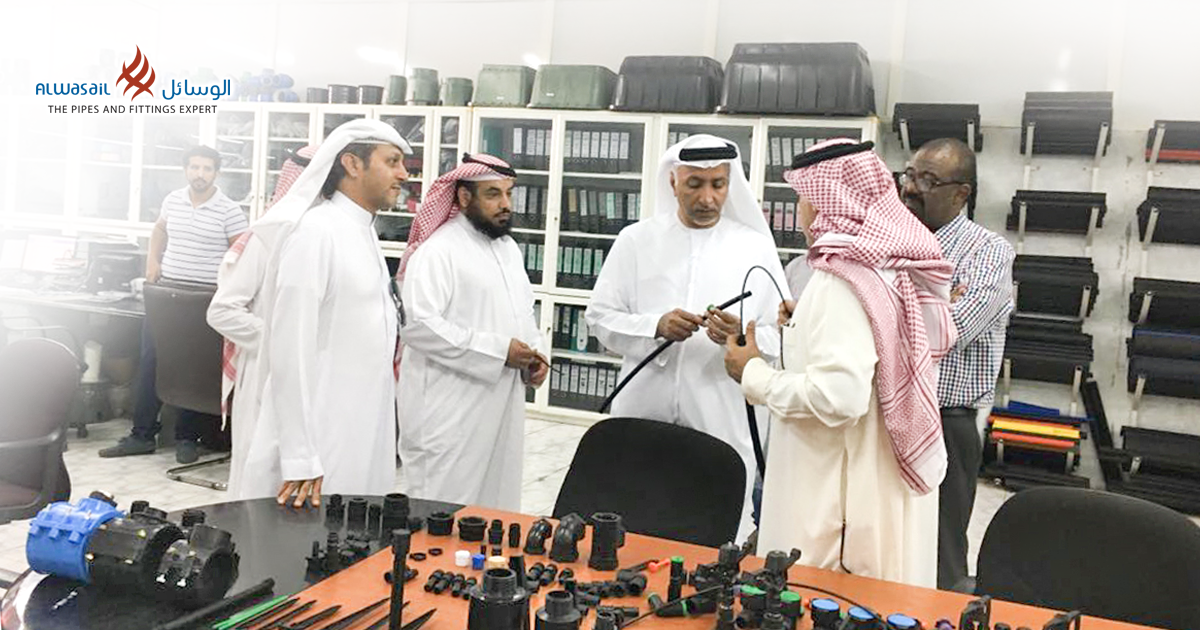 UAE businessman, Mohammed Rashid Al Otaiba visited Alwasail Industrial Company